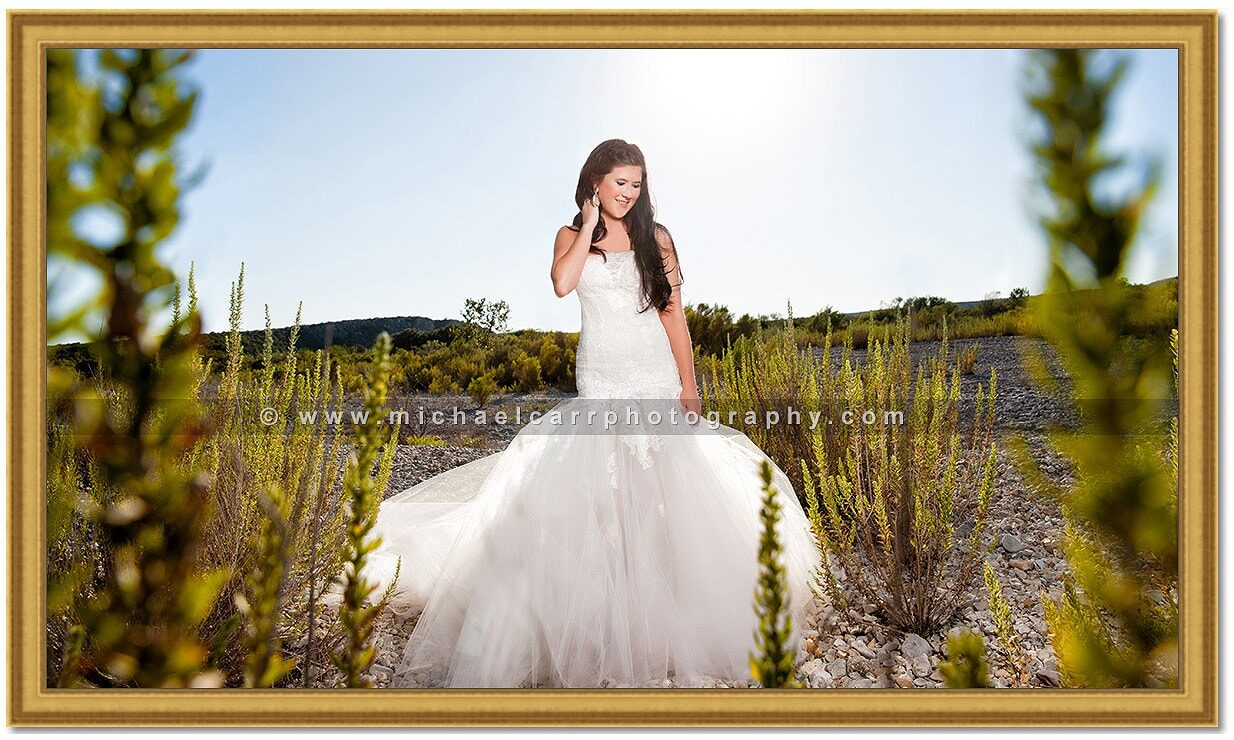 Outdoor Ranch Bridal Portrait Photography